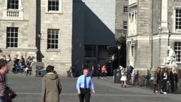 Trinity Collage Dublin stock footage