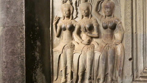 Stone Carving of Classical Khmer Footage