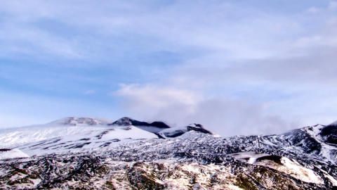 Crater of Mount Etna. Italy, Sicily. Time Lapse. 1 Footage
