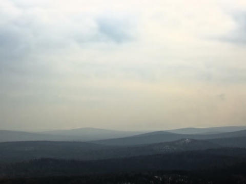 Fog over the hills. Time Lapse. 640x480 Stock Video Footage