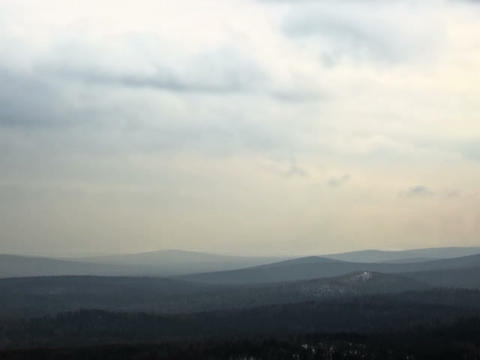Fog over the hills. Time Lapse. 640x480 Footage
