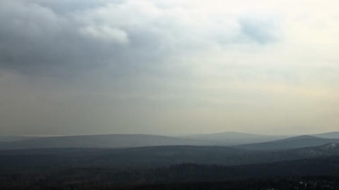 Clouds over the forest. Time Lapse. 1280x720 Stock Video Footage