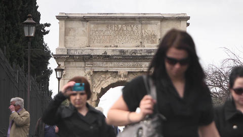 Triumphal Arch of Titus Stock Video Footage