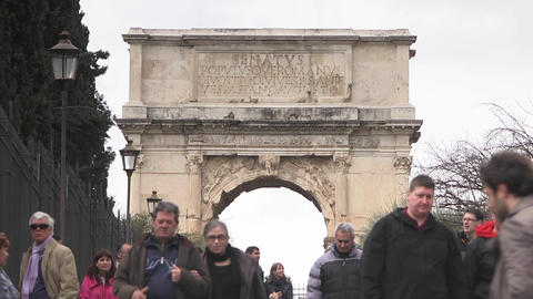Triumphal Arch Of Titus stock footage