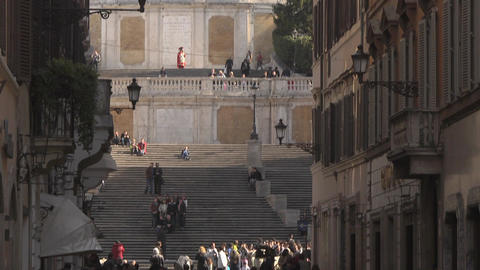 Spanish Steps at Piazza Di Spagna in Rome, Italy Stock Video Footage