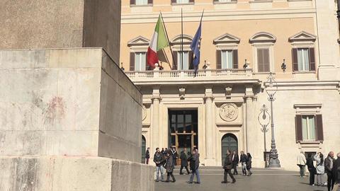 Obelisk of Montecitorio Stock Video Footage