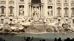 Fontana di Trevi in Rome, Italy Footage