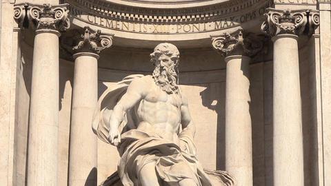 Fontana di Trevi in Rome, Italy Footage