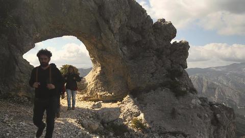 Hikers Trekking, Sardinia, Italy Footage