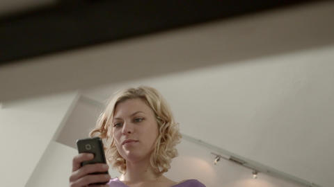 Woman Chatting On Mobile Phone Stock Video Footage