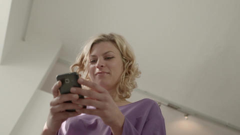 Woman Chatting On Mobile Phone Footage