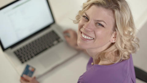 Woman Shopping On Internet Footage