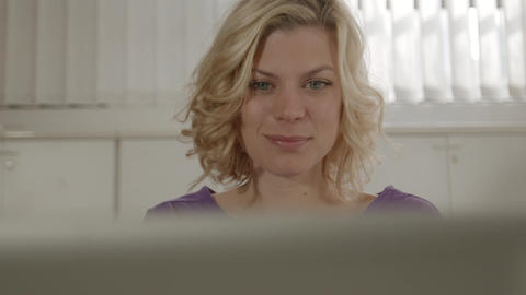 Woman With Phone And Laptop Stock Video Footage