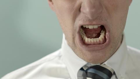 Businessman Screaming Stock Video Footage