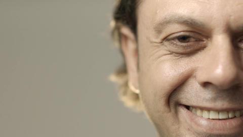 Closeup Of Adult Man Face Footage