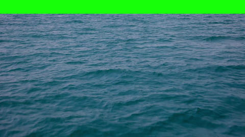 Real waves with green background Stock Video Footage