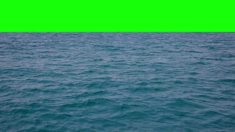 Real Waves With Green Background stock footage