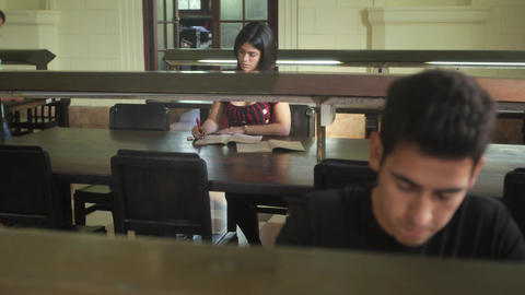 Young people at school male and female students st Stock Video Footage