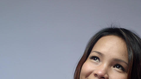 Portrait of Asian Girl Smiling Stock Video Footage