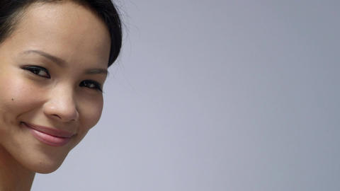 Portrait of Asian Girl Smiling Footage