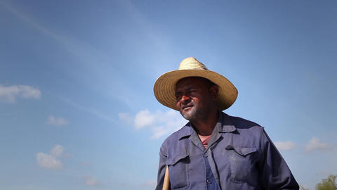 People and Agriculture Portrait of Black Farmer wi Footage