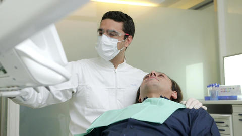 Dentist Visiting Patient in Dental Studio Footage