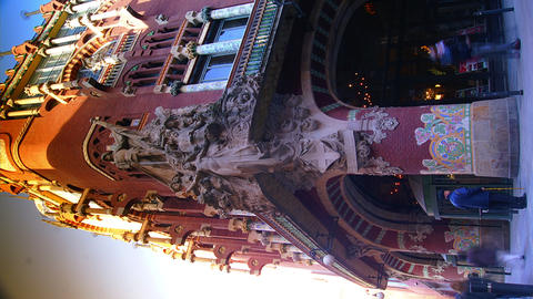 Palace of Catalan Music in Barcelona,time lapse, v Footage