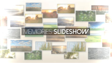 Memories Slideshow - After Effects Template After Effects Project