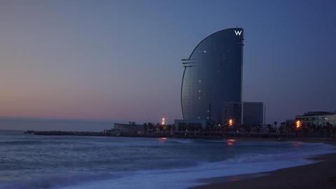 Barcelona, Spain. Barceloneta Beach - one of the m Footage