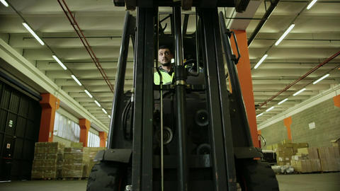 People Working in Warehouse Footage