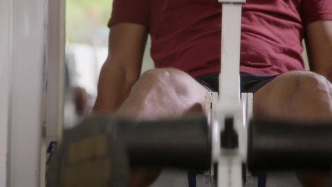 People and Fitness Adult Hispanic Man Exercising in gym Stock Video Footage