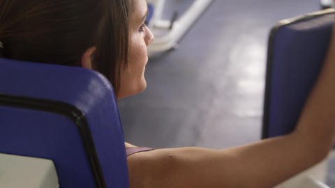 Woman Sport and Wellbeing in Gym Female Athlete Training Stock Video Footage