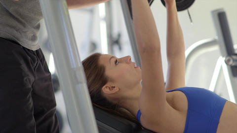 People Training in Fitness Club Stock Video Footage