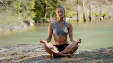 People Doing Yoga and Stretching Stock Video Footage