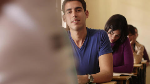 Students and College Education Portrait of Hispanic Man Stock Video Footage