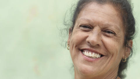 Elderly Caucasian Lady Smiling at Camera Stock Video Footage