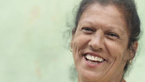 Elderly Caucasian Lady Smiling at Camera Footage