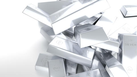 Bars of silver Stock Video Footage