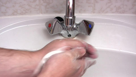 Cleaning Hands Stock Video Footage