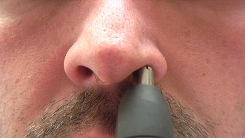 Hairy Nose Stock Video Footage