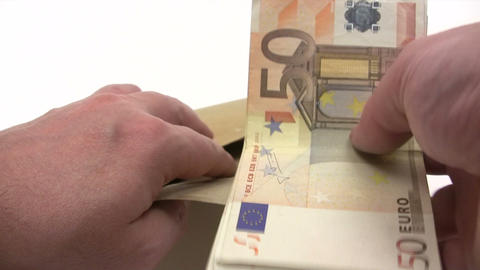 Filling Euro Wage Packet Live Action