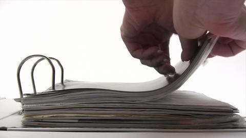 Reading Contract Stock Video Footage