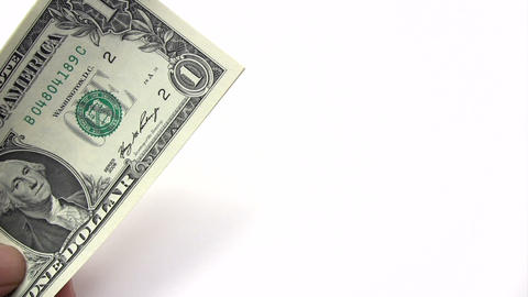 Picking Dollar Banknotes Stock Video Footage