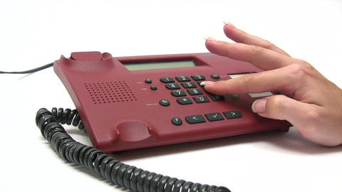 Calling by Phone Stock Video Footage