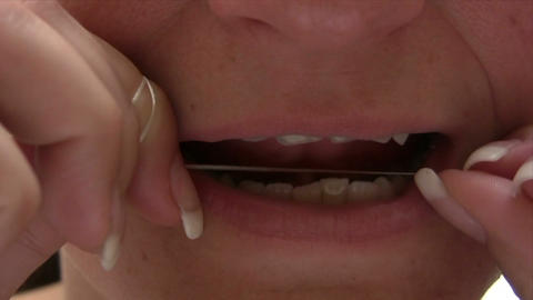 Flossing Stock Video Footage