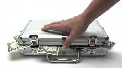 Closing Money Case Stock Video Footage