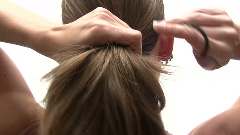 Ponytail stock footage