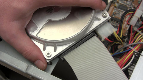 Disconnecting Hard Disk Stock Video Footage
