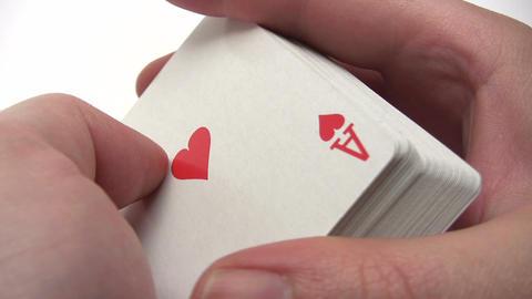 Shuffling Poker Cards Stock Video Footage