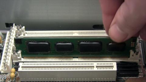 Installing RAM Stock Video Footage